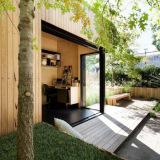เพิ่มสเปซเชื่อมต่อสวนหลังบ้านด้วยการต่อเติมหลังบ้านแบบโปร่ง
