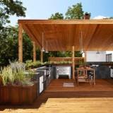 Outdoor kitchen แต่งบ้านสวยด้วยครัวนอกบ้านไม้ระแนง