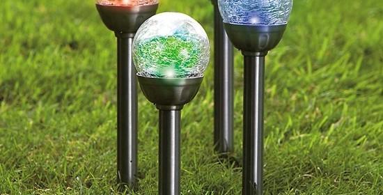 แบบโคมไฟพลังงานแสงอาทิตย์ แต่งสวนสวยประหยัดพลังงาน